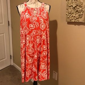 Nina Leonard Floral Dress Size Large